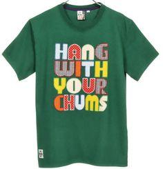 ロゴT Chums チャムス アップリケTシャツ フォレスト on ShopStyle