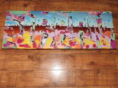 Morden graffiti urban art coffee table furniture #graffiti #art #urbanart #modern #bespoke #interiordesign #interiordesigners #banksy #furniture #table #urban
