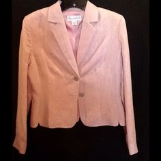 Pink Blazer Fully lined Petite Sophisticate pink blazer. Petite Sophisticate Jackets & Coats Blazers