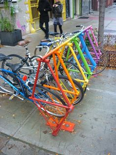 Colorful, Stylish and functional! What do the bike racks in your town look like?
