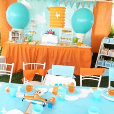 Planes birthday party! See more party planning ideas at CatchMyParty.com!