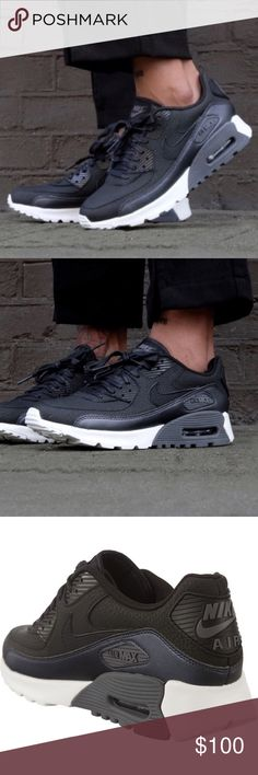 Nike Air Max 90 Ultra Low Women's Sneaker New in box, no lid // modern take on the classic Air Max 90 //  lightweight // leather and mesh upper for comfort and breathability // trademark Nike Air Max technology provides maximum comfort // outside is made of solid rubber in a waffle pattern for traction and durability // sold out classic style that is a closet staple // looks great with jeans or athletic attire // no trades Nike Shoes Sneakers