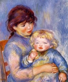 Pierre-Auguste Renoir Motherhood - Child With A Biscuit