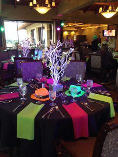 Neon table decor