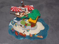 Diorama Los Papagallos Insel mit Schiff und Figuren EU selten RAR
