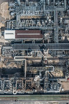 Aerial Photographs of industrial scenes at North Rhine Westphalia, Germany.  Photographed 2014.