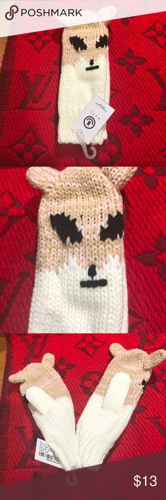 NEFF animal mittens NWT says OS but it's more like a ladies small Neff Accessories Gloves & Mittens