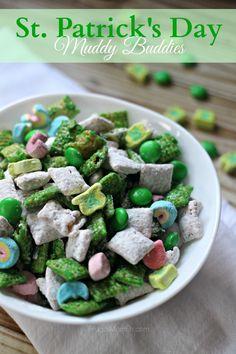 St. Patrick's Day Muddy Buddies - Frugal Mom Eh!