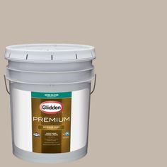 Glidden Premium 5-gal. #HDGWN24 Stone Harbor Greige Semi-Gloss Latex Exterior Paint