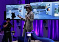 Microsoft is determined to make virtual reality work for everyone Microsoft Technical Fellow Alex Kipman demonstrates an HMD Odyssey virtual reality headset during a media conference, Tuesday, Oct. 3, 2017, in San Francisco. Microsoft is touting virtual reality headsets made by other companies in hopes of ... #virtualreality