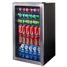 NewAir Beverage Cooler and Refrigerator, Mini Fridge with Glass Door, Perfect for Soda Beer or Wine, Capacity, Stainless Steel Beer Fridge, Beverage Refrigerator, Compact Refrigerator, Mini Fridge, Dorm Fridge, Coca Cola, Cozinha Do Mickey Mouse, Movie Theater Rooms, Kitchen Organization