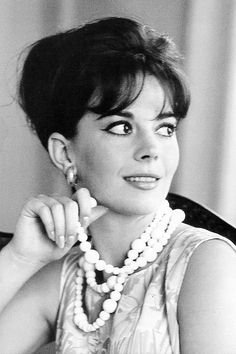 Natalie Wood at the Carlton Hotel in Cannes, photographed by Edward Quinn, 1962.