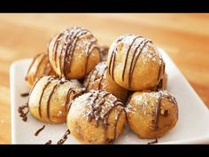 Deep Fried Cookie Dough Recipe with Video Deep Fried Cookie Dough seriously the best dessert ever! Cookie dough dipped in homemade batter and fried to a fluffy golden crispy ball with melty chocolate chips inside. Deep Fried Cookie Dough, Chocolate Chip Cookie Dough, Chocolate Chips, Melted Chocolate, Mini Desserts, Delicious Desserts, Party Desserts, Dessert Recipes, Dessert Ideas