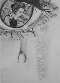 Dit komt best overeen met mijn idee. De persoon ziet een meisje liggen huilen en degene geeft zo veel om haar dat zij/hij kapot gaat om haar zo te zien. In plaats van het meisje ga ik dan een maatschappelijk probleem schetsen