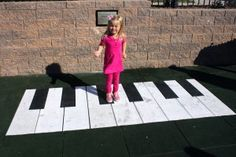 You walk on the surfacing at Brendan's Playground in O'Fallon, MO and it creates sounds.  Just like in BIG