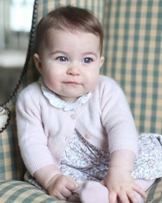 Adorable little Princess Charlotte of Cambridge, who is six months old, fourth in line to the throne has not been seen in public since her christening in July 2015.  Two photographs has been released today by Kensington Palace as a thank you to the British media for giving Prince William and Kate's children the chance to grow up away from the spotlight.