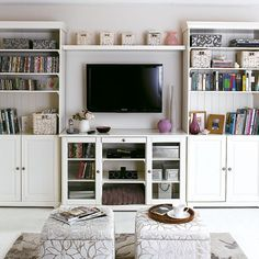 Choose furniture that serve multiple purposes to make the most out of them. For example, using a hollowed out ottoman for a coffee table or opting for a sofa bed that can double as a sofa and a bed. Source: House to Home