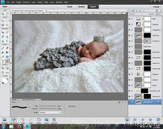 Edit a Newborn Photo with Free Actions in Photoshop Elements | Chrissy Martin Photography