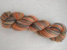 Hand dyed aran weight yarn in tiger colours of orange and shades of grey and black, wool Aran Weight Yarn, Colours, Orange, Unique Jewelry, Handmade Gifts, How To Make, Crafts, Etsy, Vintage