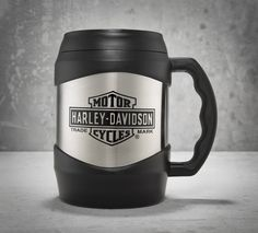 Like a gas tank for your morning coffee. A single fill-up of the 52 oz. mug holds over 6 cups of your favorite beverage ready for sipping. | Harley-Davidson 52 oz. Mighty Mug