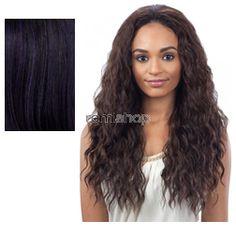 Equal (SNG) Drawstring Full Cap Shimmer Girl  - Color OPDKPU - Synthetic (Curling Iron Safe) Drawstring Half Wig