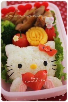 Hello Kitty Valentine's day Bento