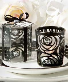 Black rose candle holder favors http://www.1weddingsource.com/store/index.php/black-rose-candle-holder-favors