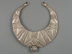 North West Pakistan | Silver neck torques worn by married women in Swat valley