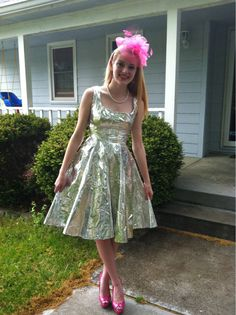 Way to impress a guy... Duct-tape prom dress.