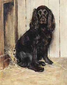 Samuel Fulton (1855-1944) A well behaved spaniel