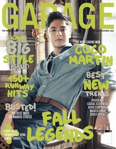 COCO MARTIN  Oct-Nov 2010 Coco Martin, Cover Boy, Pinoy, Kanye West, Magazine Covers, Eye Candy, Crushes, Garage, Celebs