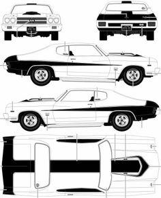 1969 Chevrolet Camaro Z-28 SS Coupe blueprint | Cakes - Vehicles ...