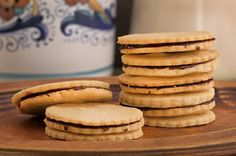Rose Levy Beranbaum, The Baking Bible #Giveaway Ischler Cookies (chocolate & apricot filled)