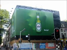 Super awesome Heineken street advertising!