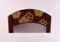 捻梅散蒔絵櫛、19世紀
