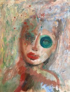 """Polvere"" Mixed media. Acrylics, watercolors and digital print on paper. 23x30cm SOLD - Tecnica mista. Acrilici, acquerelli e stampa..."
