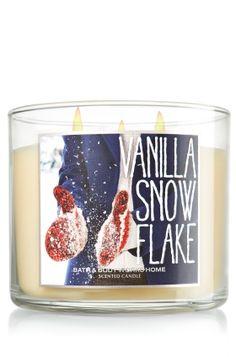 Vanilla Snowflake 14.5 oz. 3-Wick Candle - Slatkin & Co. - Bath & Body Works