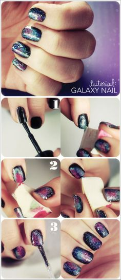 Galaxy Nail Tutorial | Beauty Ideas