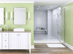 Custom Showers | Binswanger Glass Glass Bathroom Cabinet, Bathroom Windows, Bathroom Shower Curtains, Bathroom Cabinets, New Bathroom Ideas, Simple Bathroom, Bathroom Colors, Modern Bathroom Lighting, Modern Bathroom Design