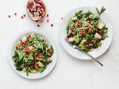 Chicory and Herb Salad with Apple, Pomegranate, and Creamy Miso Dressing from  Best Winter Salads | SAVEUR