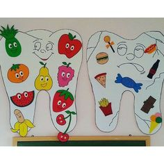 Toddler and kindergarten health activities, dental activities for preschool, Preschool Classroom, Classroom Activities, Toddler Activities, Preschool Activities, Preschool Shapes, Classroom Helpers, Classroom Ideas, Dental Health Month, School Health