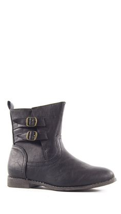 Buckle Up Boots - Black