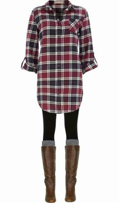 Stitch fix - I REALLY  this outfit!  I really want a plaid that I can wear with leggings or skinny jeans.