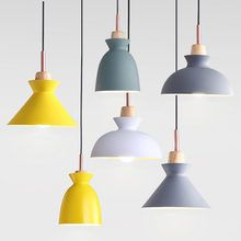Online Shop Modern Nordic Pendant Lights Scandinavian Loft Pendant Lamp Wood Metal Lampshade Lu Scandinavian Pendant Lighting Pendant Lighting Metal Lamp Shade