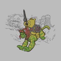 Winnie the pooh, he man, mashup, tiger, cringer, Arinesart, POOHWER OF GRAYZKULL