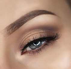 brown natural eye makeup ~ we ❤ this! moncheribridals.com
