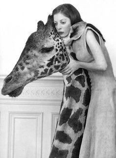 Giraffe lady quirky mono -M4U-