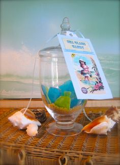 sea glass candy for beach theme tea party