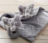 Elephant Plush Thumbie & Rattle