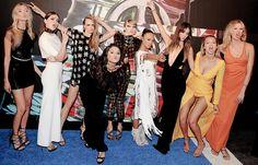 """Martha Hunt, Hailee Steinfeld, Cara Delevingne, Selena Gomez, Taylor Swift, Serayah McNeill, Lily Aldridge, Gigi Hadid and Karlie Kloss attend the 2015 MTV Video Music Awards - August 30, 2015 """